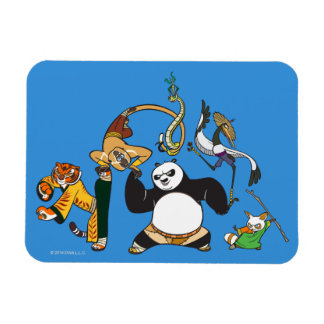 Po and the Furious Five Rectangular Photo Magnet