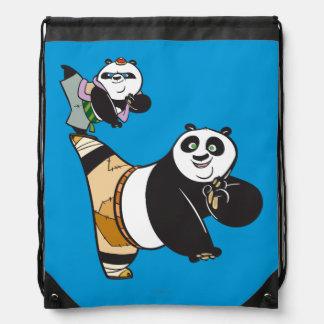 Po Ping and Bao Kicking Drawstring Bag