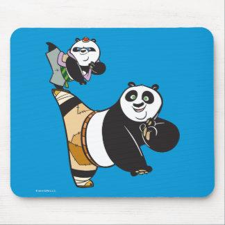 Po Ping and Bao Kicking Mouse Pad