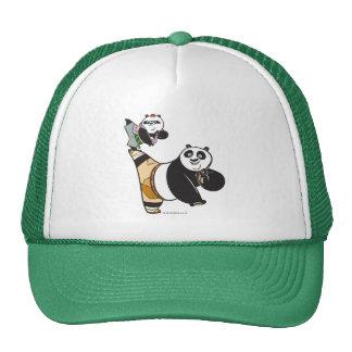 Po Ping and Bao Kicking Trucker Hat