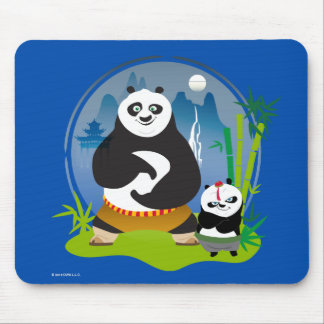 Po Ping and Bao Pose Mouse Pad