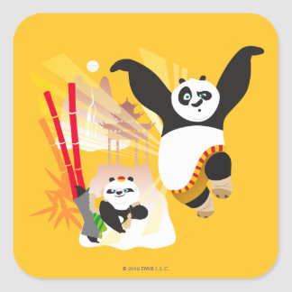 Po Ping and Bao Square Sticker