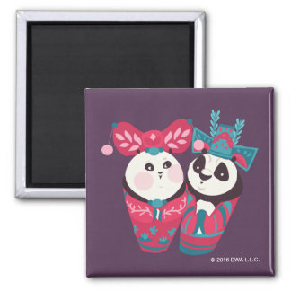 Po Ping and Mei Mei 2 Inch Square Magnet