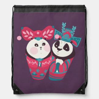 Po Ping and Mei Mei Drawstring Bag