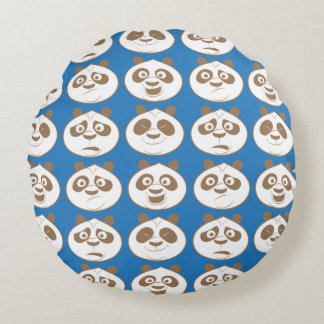 Po Ping Blue Pattern Round Pillow