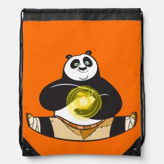 Po Ping Doing the Splits Drawstring Bag