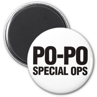 Po-Po Special Ops 2 Inch Round Magnet