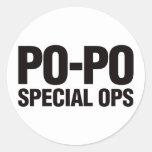 Po-Po Special Ops Classic Round Sticker