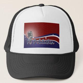 Po Politickin Radio Mic Logo Trucker Hat