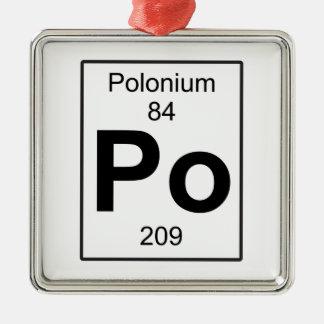 Po - Polonio Adorno Navideño Cuadrado De Metal
