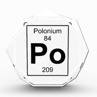 Po - Polonium Acrylic Award