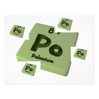 Po Polonium Letterhead Design