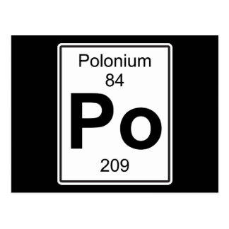 Po - Polonium Postcard