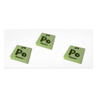Po Polonium Personalized Rack Card