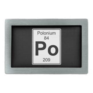 Po - Polonium Rectangular Belt Buckle