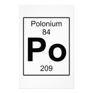 Po - Polonium Stationery