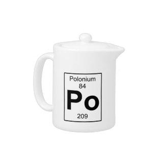 Po - Polonium Teapot