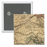 Po River Valley engraved map 2 Inch Square Button