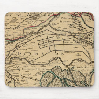Po River Valley engraved map Mouse Pad