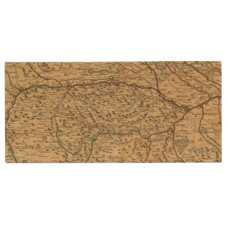 Po River Valley in Italy Wood USB Flash Drive