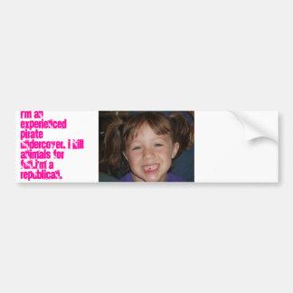 Poacher Republican Bumper Sticker