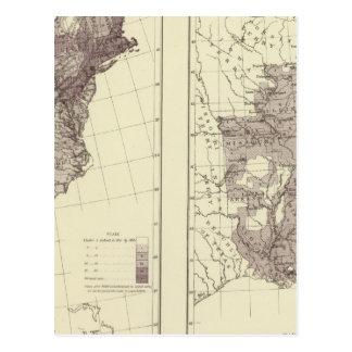 Población 1830-1840 de los E.E.U.U. Tarjetas Postales