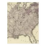 Población 1850 de los E.E.U.U. Postales