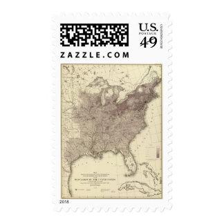 Población 1860 de los E.E.U.U. Sello