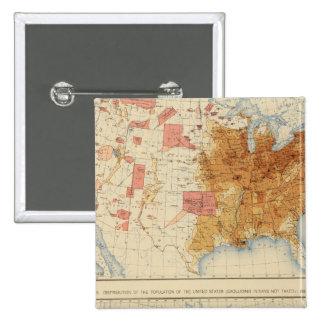 Población 5 1870, 1880 pin cuadrado