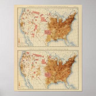 Población 5 1870, 1880 póster