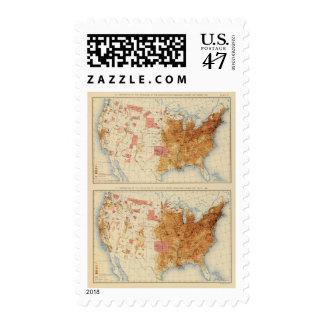 Población 5 1870, 1880 sello postal