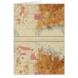 Población 5 1870, 1880 tarjeta de felicitación