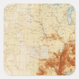 Población coloreada 10 1890 pegatinas