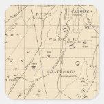 Población de centro 1880-1900 del negro 52 pegatinas cuadradases personalizadas