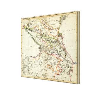 población del Cáucaso Lienzo Envuelto Para Galerías
