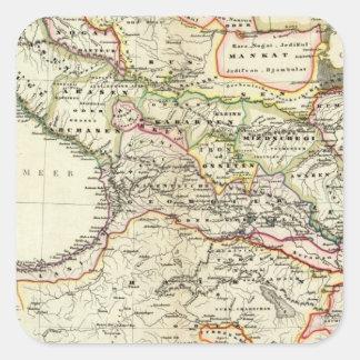 población del Cáucaso Pegatina Cuadrada