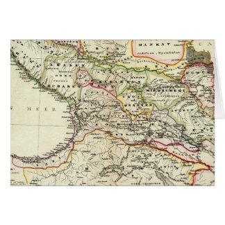 población del Cáucaso Tarjeta