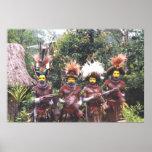 Población tribal de Papúa Nueva Guinea, poster