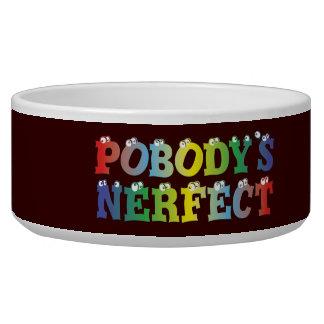 Pobody's Nerfect Bold Pet Bowl