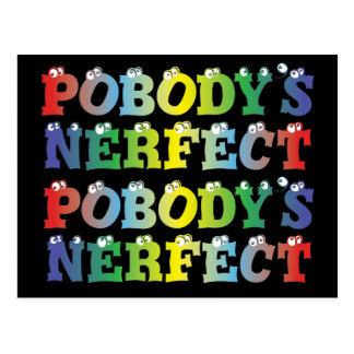 Pobody's Nerfect Bold Postcard