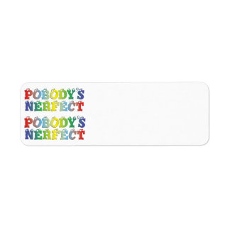 Pobody's Nerfect Bold Return Address Labels