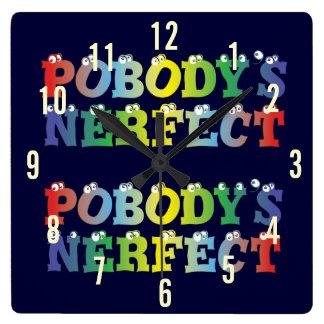 Pobody's Nerfect Bold Wall Clock