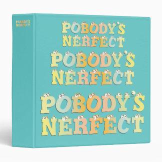 "Pobody's Nerfect Pastel 1.5"" Binder"