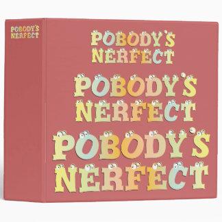 "Pobody's Nerfect Pastel 2"" Binder"