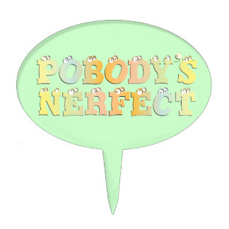 Pobody's Nerfect Pastel Cake Topper