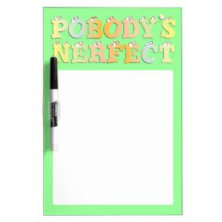 Pobody's Nerfect Pastel Dry Erase Board