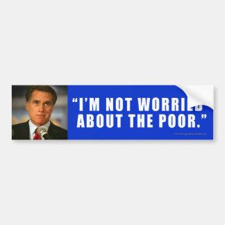 POBRES Antis-Romney del pegatina Pegatina Para Auto