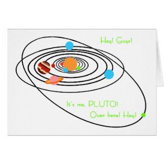 Pobres Plutón de los planetas Felicitación