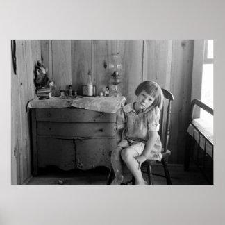 Pobreza 1938 de la Gran Depresión Póster