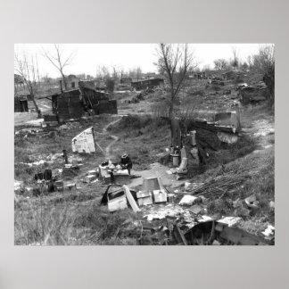 pobreza de los años 30 póster